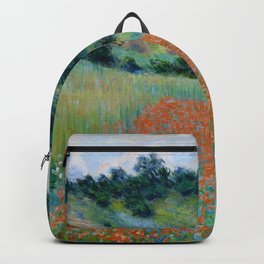 "Claude Monet ""Poppy Field in a Hollow near Giverny"" Backpack"