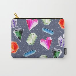 Crystals and Gemstones Pattern Carry-All Pouch