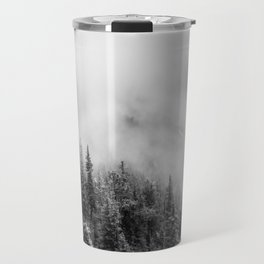 Fog in the Mountains | Black and White Photography | Landscape | black-and-white | bw Travel Mug