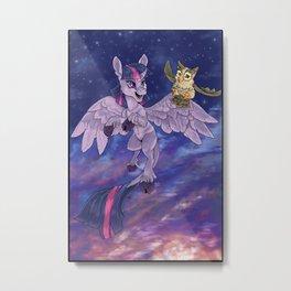 Flying at Twilight Metal Print