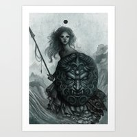 shield Art Prints featuring Shield by Caroline Jamhour