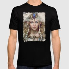 Epic Princess Zelda from Legend of Zelda Painting 2X-LARGE Black Mens Fitted Tee