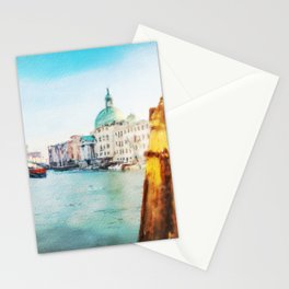 The Pier of Venice watercolor Stationery Cards
