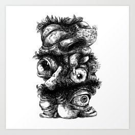 Graphic face Art Print