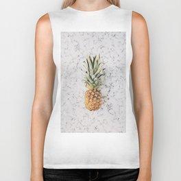 Pineapple Marble Background Biker Tank