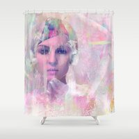 erotic Shower Curtains featuring When you appear in my dreams by Ganech joe