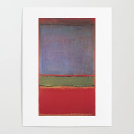 1951 No 6 Violet Green and Red by Mark Rothko Poster