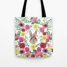 Easter rabbit floral beauty Tote Bag