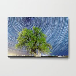 Grandfather Tree under the Stars Metal Print