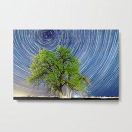Grandfather Tree under the Stars Metal Print
