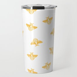 Bee pattern in gold yellow Travel Mug