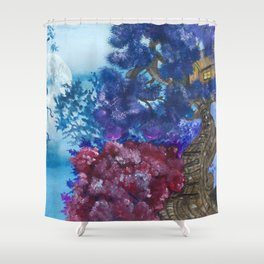 Treehouse and the other side Shower Curtain