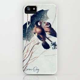 Snow Day - Goldfinch iPhone Case