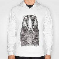 badger Hoodies featuring Badger by Meredith Mackworth-Praed
