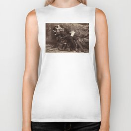 Oscar Wilde Lounging Portrait Biker Tank