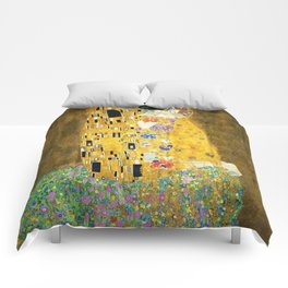 Gustav Klimt The Kiss Comforters