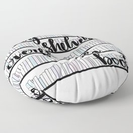 May Your Shelves Overflow with Books Floor Pillow