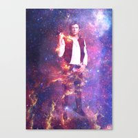 han solo Canvas Prints featuring Han Solo by MaNia Creations