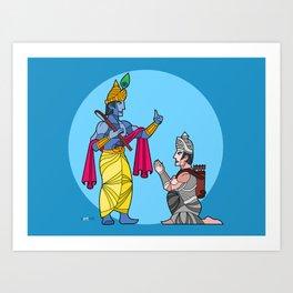 A tale of friends Art Print