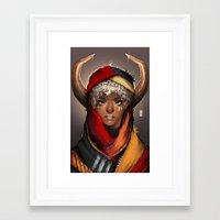 taurus Framed Art Prints featuring Taurus by GDBEE