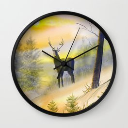 Lone Buck Wall Clock