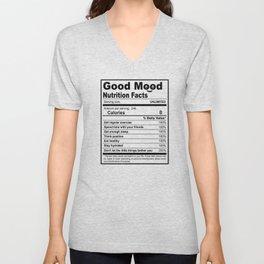 Todays Good Mood - Nutrition Facts Unisex V-Neck