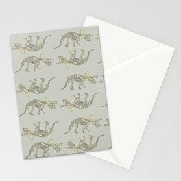Triceratops Skeleton Stationery Cards
