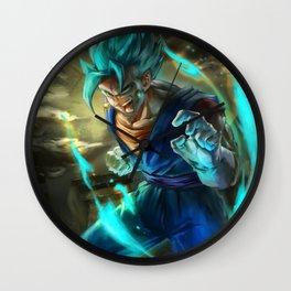Vegetto super saiyan blue Wall Clock
