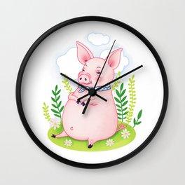 Happy Piggy Wall Clock
