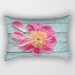 pink peony Rectangular Pillow