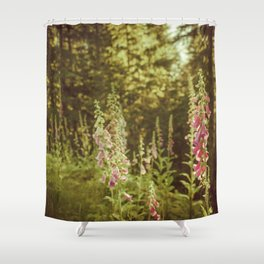 A New Day II Wildflowers at Dawn - Nature Photography Shower Curtain