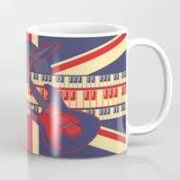 british Mugs featuring British Rock by Ornaart