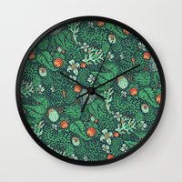 plants Wall Clocks featuring plants by Jordan Walsh