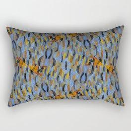 Texture blue brown gogen Rectangular Pillow
