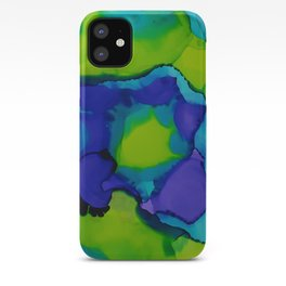 Purple and green dreams iPhone Case