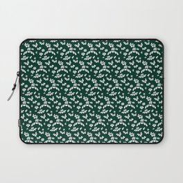 Green Floral Laptop Sleeve