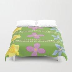 Spring Flowers Pattern [GREEN] Duvet Cover