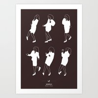 seinfeld Art Prints featuring Seinfeld by Niege Borges
