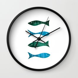 Fishes and Sea Wall Clock