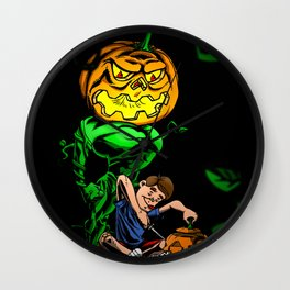 Pumpkin Head Wall Clock