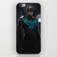 nightwing iPhone & iPod Skins featuring Nightwing 02 by Yvan Quinet