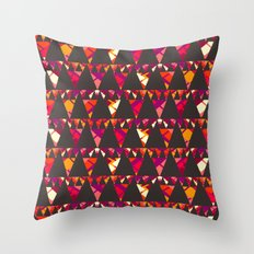 Vibrant triangles Throw Pillow