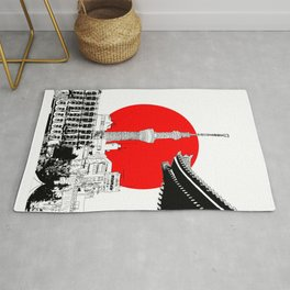 tokyo skytree red dot 1 Rug