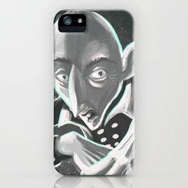 creepy spooky nosferatu iPhone Case