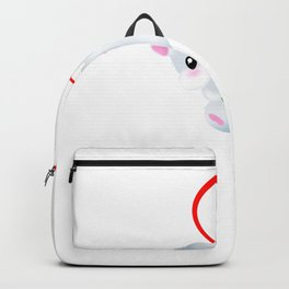A Hamster With A Daisy Hanging On A Heart Backpack