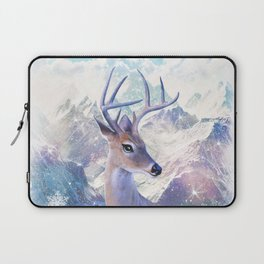 Fairy deer in the mountains Laptop Sleeve