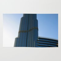 wiz khalifa Area & Throw Rugs featuring Dubai - Burj Al Khalifa by gdesai