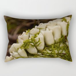 Moss Growing in Dead Deer Teeth #1 Rectangular Pillow