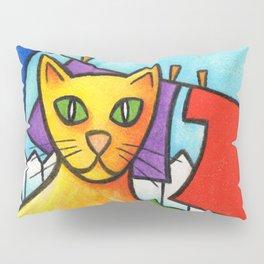 Cat On Fence Pillow Sham