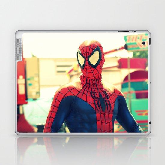 I met Spider Man Laptop & iPad Skin
